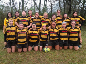 The Lady Panther rugby team.