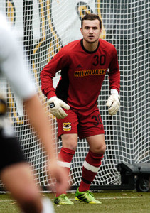 Freshman Goalkeeper Liam Anderson. photo from UWM Athletics