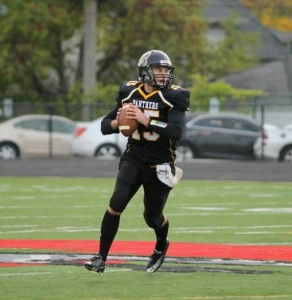 Sam Clark leaves UWM as the career leader in NCFA passing yards, passing TDs, completions, and QB rating. Photo from Milwaukee Panthers Football