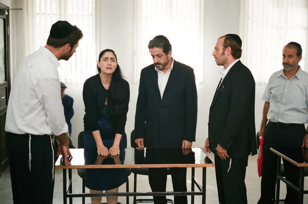 Viviane (Ronit Elkabetz), Carmel (Menashe Noy) and Shimon (Sasson Gabay) in GETT. Courtesy of Music Box Films.