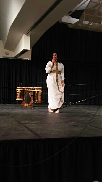 Miel Fetaw performing during African Culture Night.