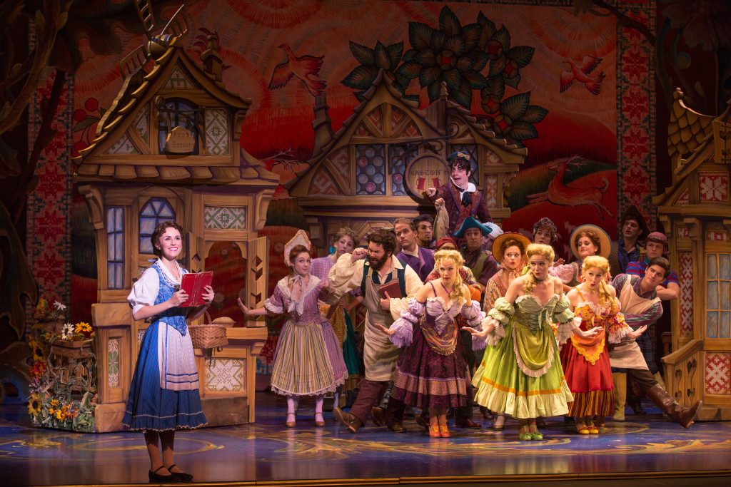 Jillian Butterfield as Belle and the cast of Disney's Beauty and the Beast. Photo by Matthew Murphy.