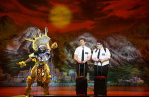 Monica L. Patton,David Larsen, and Cody JamisonStrand in THE BOOK OF MORMON (Photo Courtesy of: Joan Marcus)