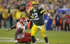 Aaron Rodgers Threw for 5 Scores with No Picks vs. the Chiefs photo: jsonline.com