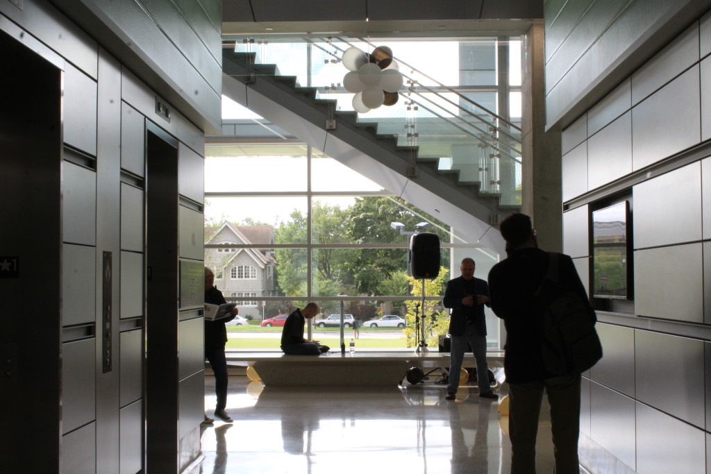 Visitors gather on the ground floor of the KIRC.