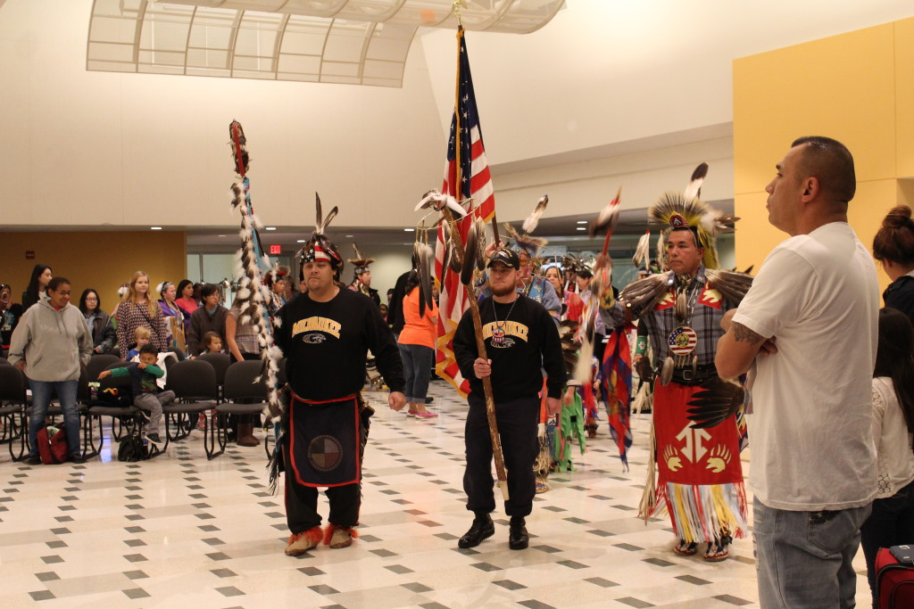The start of the pow wow.