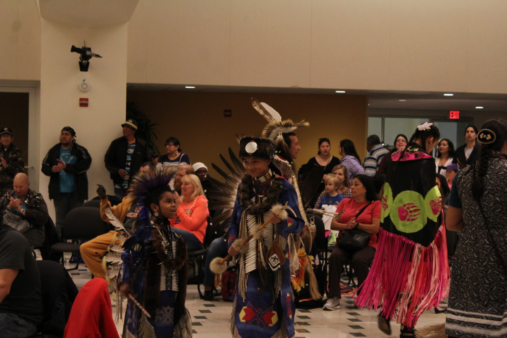 Dancing during the pow wow.