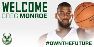 Greg Monroe was the Bucks' major free agent splash acquisition. photo: bucks.com