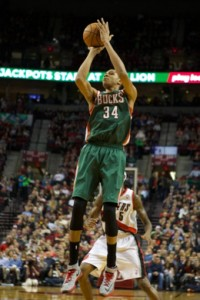 Giannis Antetokounmpo needs to improve his shooting touch. photo: USA Today