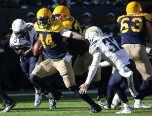 Packers' backup running back James Starks was the unexpected hero for the Green Bay offense. photo: newsday.com