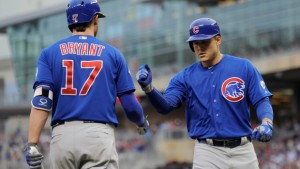 Cubs' Kris Bryant and Anthony Rizzo photo: CBS Local Chicago
