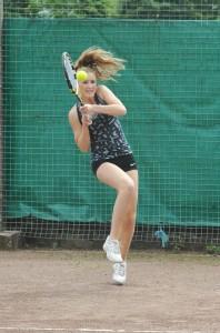 Clark at Bolton Tennis Tournament Finals  photo: Laurie Clark