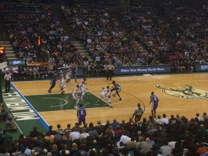 The Bucks earned their first home win of the season Wednesday night.