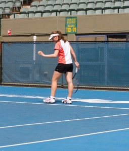 Lobanova pushes herself both on the court and in the classroom, as she is studying actuarial science. photo: Lobanova