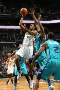 Khris Middleton and the Bucks were stifled in the second quarter, scoring only nine points in the period Image from bucks.com