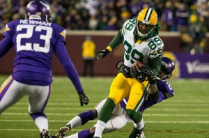 James Jones broke out of his funk vs. the Vikings, catching some key passes late. photo: fansided.com