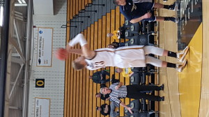 J.J. Panoske shoots a first-half free throw against the Eagles.  Panoske finished with 22 points and 10 rebounds.