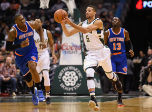 Michael Carter-Williams scores his season-high 20 points in win over the Knicks. (Image from wtmj.com)