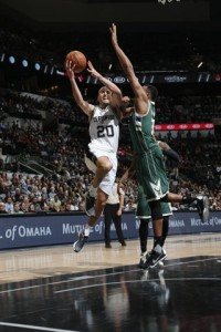 The Spurs ability of being able to get into the paint on a consistent basis was one of the things that doomed the Bucks on Wednesday night. photo: NBA.com