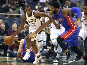 Khris Middleton will look for more success against his former team, as he tallied 16 points in the Bucks' November 23rd victory over Detroit. photo: NBA.com