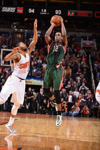 The Bucks' last visit to Phoenix was bittersweet, as Khris Middleton hit a miraculous game winning three, but Jabari Parker also went down with a torn ACL.  photo: bucks.com