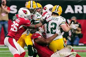 The Cardinals' defense was all over Aaron Rodgers in their blowout win vs. the Packers.  photo: acmepackingcompany.com