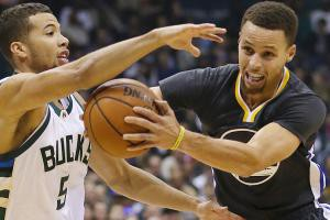 Warriors lose their first game of the season 108-95 to the Bucks.  (Image from si.com)