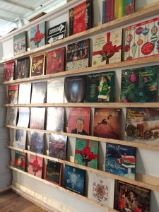 Vinyls on display. Photo taken by Analise Pruni