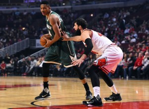 The matchup of Giannis and Nikola Mirotic should be entertaining, as the two have a history dating back to last season's playoff series.  photo: Mike DiNovo, USA Today Sports