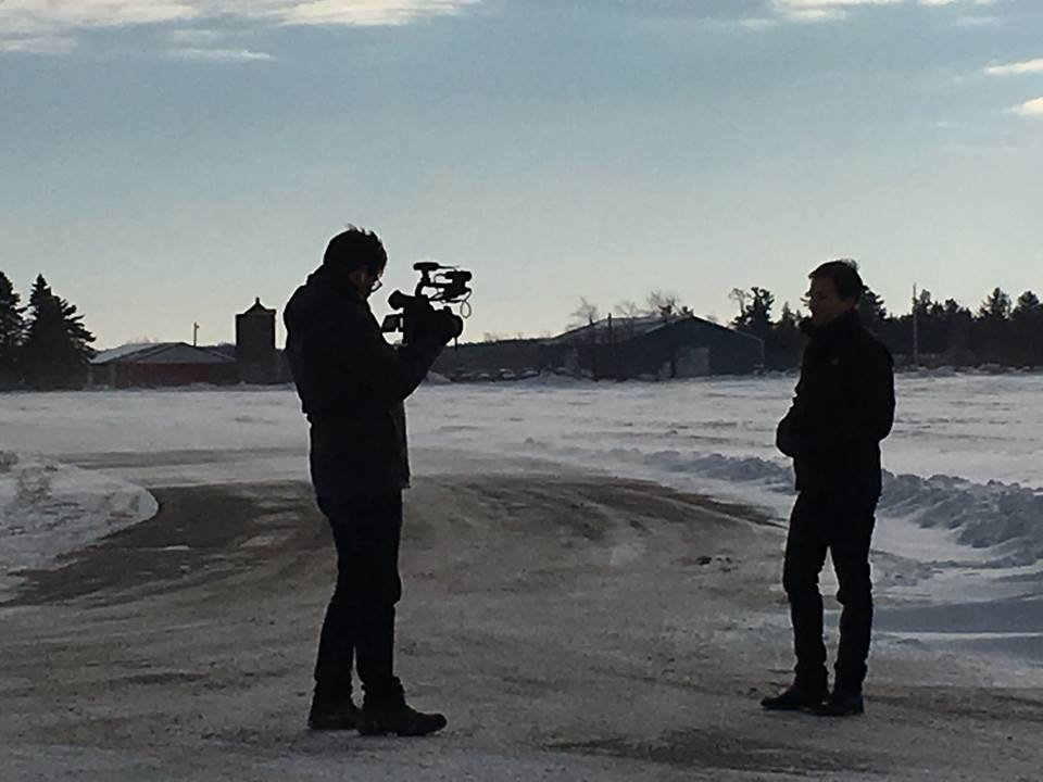 ABC's Nightline crew in Manitowoc, Wisconsin. | Photo obtained by Danielle Stobb courtesy of Jessica McBride.