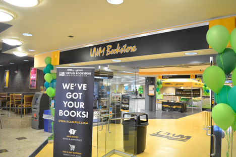 The old UWM Bookstore; the location of the new UWM Panther Shop.