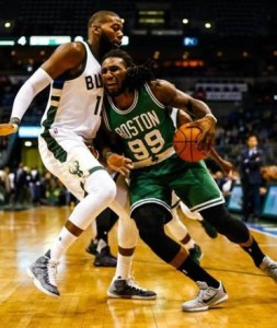 Jae Crowder helped propel Boston to a 16-0 run against the Bucks back on Nov. 10 that cemented their victory (Tannen Maury/EPA).