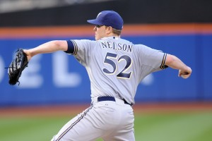 The addition of a curveball adds depth to Nelson's repertoire of pitches (USA TODAY).