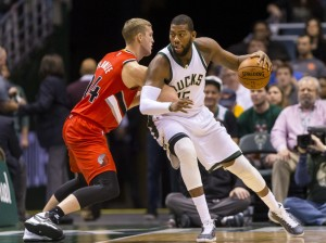 Greg Monroe scored the game winning layup against Portland earlier this season in a 90-88 Milwaukee win back in early December (Jeff Hanisch, USA TODAY Sports).