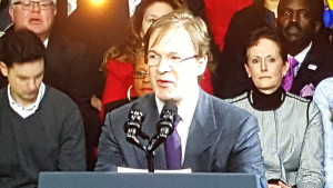 County Executive Abele was the first speaker at the event.
