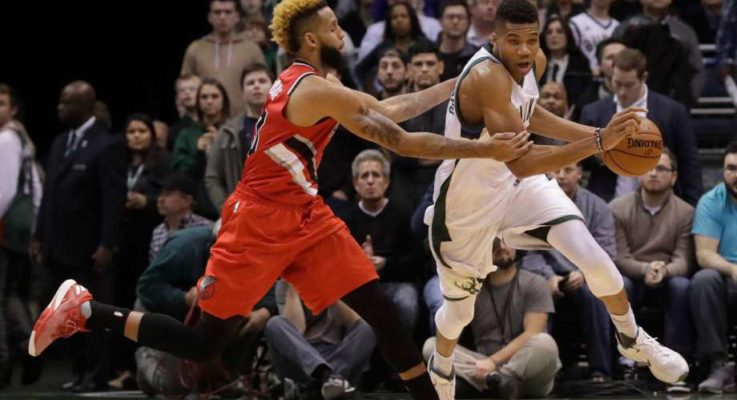 Antetokounmpo nets triple-double, Bucks blow past Portland