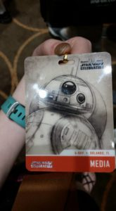 Press passes, Star Wars Celebration, Star Wars fan