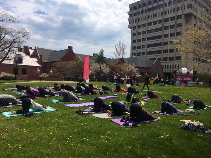 Pink Yoga on the Green comes back to UW-Milwaukee - UWM Post 1