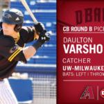 Daulton Varsho selected No. 68 by the Arizona Diamondbacks in the MLB Draft